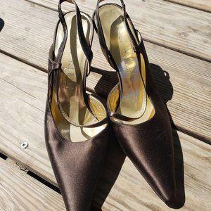 Anne Klein Brown Heels, strappy, Womens shoes